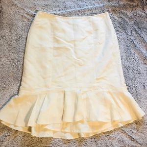 Loft pale yellow skirt